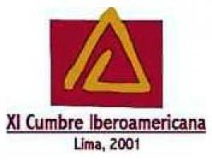 "logotipo XI Cumbre Iberoamericana Lima 2001 – ""Unidos para construir el mañana"""