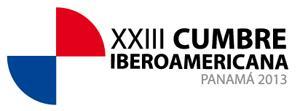 """logotipo XXIII: Cumbre Iberoamericana Panamá 2013 – """"El papel político, económico, social y cultural de la Comunidad Iberoamericana en el nuevo contexto mundial""""."""