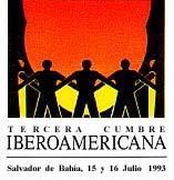"""logotipo III Cumbre Iberoamericana Salvador de Bahía 1993 – """"Desarrollo, con énfasis en el desarrollo social"""""""