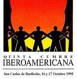 logotipo V Cumbre Iberoamericana San Carlos de Bariloche 1995
