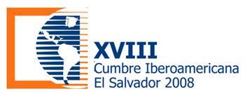 """logotipo XVIII Cumbre Iberoamericana San Salvador 2008 –  """"Juventud y Desarrollo"""""""