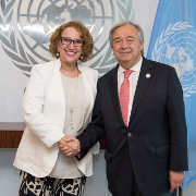 Secretary General Antonio Guterres meeting with H.E. Ms. Rebeca Grynspan, Secretary-General, Ibero-American Conference