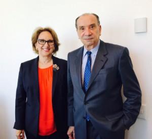 Secretaria general iberoamericana, Rebeca Grynspan, y Canciller de Brasil, Aloysio Nunes Ferreira,
